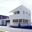 インナーガレージと動線の家