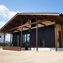 和小屋風梁と柱を活かした家